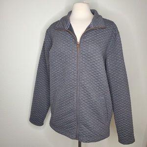 Weatherproof Gray Quilted Zipper Jacket